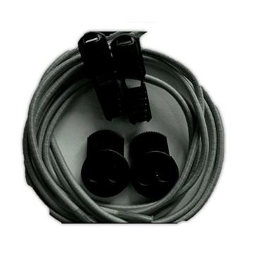 Kit Elastische Schnürsenkel ohne Knoten und Verriegelungs leicht 80cm (grau) -