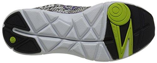 Zumba Fitness Fly Print Schuhe, damen, Fly Print, White/Grey/Purple, 40 -