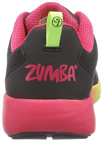 Zumba Footwear Zumba Court Flow, Damen Hallenschuhe, Schwarz (Black), 40.5 EU -