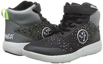 Zumba Footwear Zumba Court Flow High, Damen Hallenschuhe, Grau (Black/Graphite), 40.5 EU -