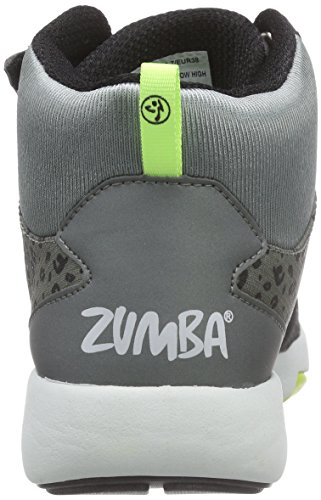 Zumba Footwear Zumba Court Flow High, Damen Hallenschuhe, Grau (Black/Graphite), 40.5 EU -
