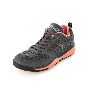 Zumba Footwear Zumba Energy Fuze, Damen Hallenschuhe, Schwarz (Black/Coral), 38 EU (4.5 Damen UK) -
