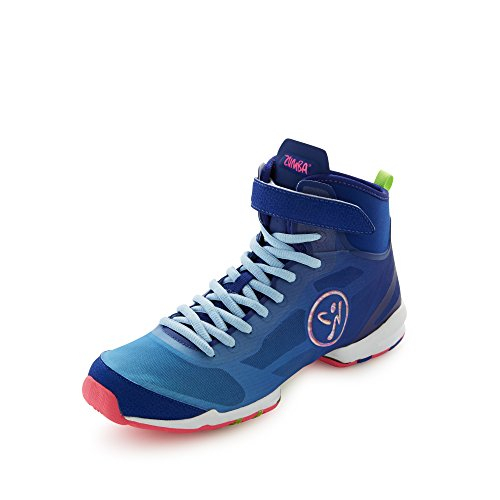 Zumba Footwear Zumba Flex II High, Damen Hallenschuhe, Blau (Blue/Pink), 40.5 EU (6.5 Damen UK) -