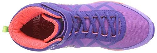 Zumba Footwear Zumba Flex II Remix High, Damen Hallenschuhe, Violett (Purple/Neon Orange), 39 EU -