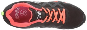 Zumba Footwear Zumba Flex II Remix, Damen Hallenschuhe, Orange (Black/Neon Orange), 39 EU -