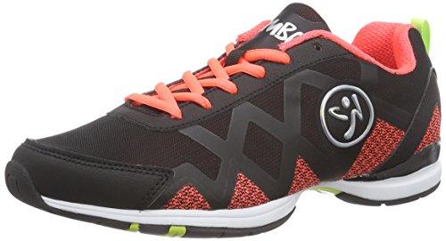 Zumba Footwear Zumba Flex II Remix, Damen Hallenschuhe, Orange (Black/Neon Orange), 39 EU -