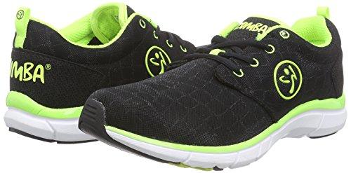 Zumba Footwear Zumba Fly Print, Damen Hallenschuhe, Grün (Black Snake/Yellow), 40.5 EU (6.5 Damen UK) -