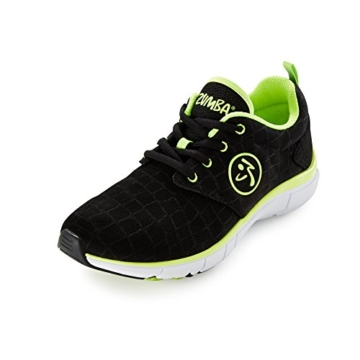 Zumba Footwear Zumba Fly Print, Damen Hallenschuhe, Grün (Black Snake/Yellow), 40.5 EU (6.5 Damen UK) -