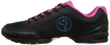 Zumba Footwear ZUMBAFLEX CLASSIC, Damen Hallenschuhe, Pink (Black/Fuschia), 42 EU (7.5 Damen UK) -