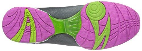Zumba Footwear ZUMBAFLEX CLASSIC, Damen Hallenschuhe, Silber (Black/Silver), 41 EU (7 Damen UK) -