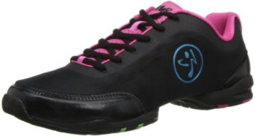 Zumba Footwear ZUMBAFLEX CLASSIC, Damen Hallenschuhe, Pink (Black/Fuschia), 40.5 EU (6.5 Damen UK) -