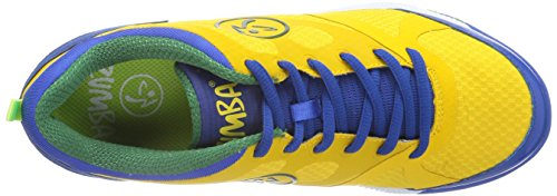 Zumba Footwear ZUMBAIMPACT MAX, Damen Hallenschuhe, Gelb (Yellow/Nautical Blue), 38.5 EU (5 Damen UK) -