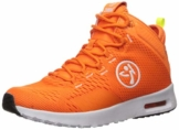 Zumba Air Classic Sportliche High Top Tanzschuhe Damen Fitness Workout Sneakers, Orange, 39 EU - 1